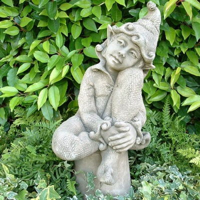 Pheeberts Stone Garden Ornament - Jenny The Gentle Pixie (PGS011)
