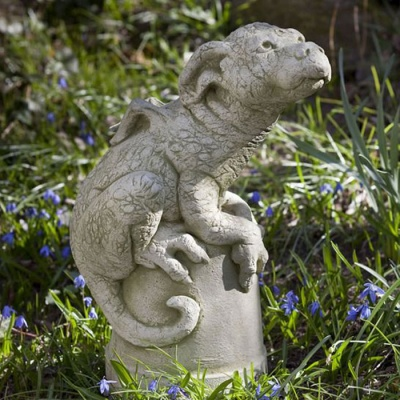 Pheeberts Stone Garden Ornament - Puddles The Dragon Pup (PGS018)