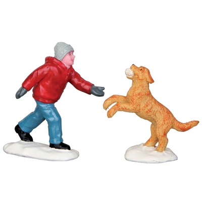 Lemax Dog In Snow - Figurines - Set of 2 (52346)