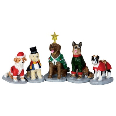 Lemax Costumed Canines - Figurines - Set of 5 (32126)