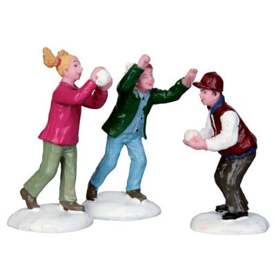 Lemax Snowball Fight! - Figurines - Set of 3 (42241)