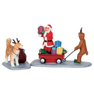 Lemax Playing Santa - Figurines - Set of 2 (52326)
