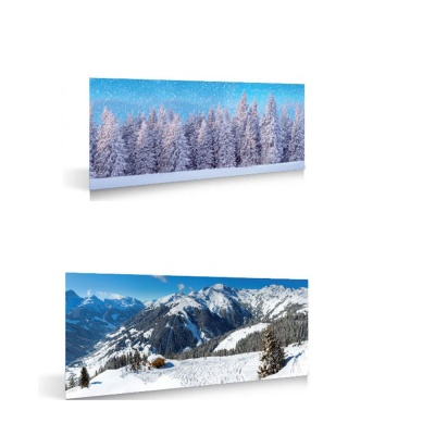 MyVillage™ Winter Sports/Forest Double Side Backdrop 98 x 33cm (MYP16)