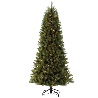 Puleo Slim Kensington Fir 7.5ft (2.25m) Pre-Lit Artificial Christmas Tree