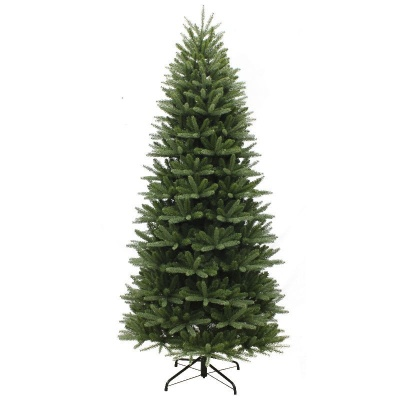 Puleo Slim Washington Valley Spruce 7.5ft Artificial Christmas Tree PE/PVC