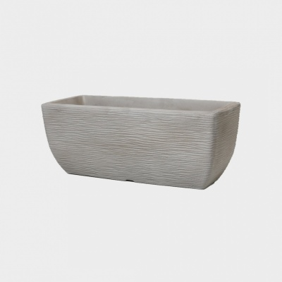 Stewart Plastics Cotswold Limestone Grey Trough Planter- 60cm