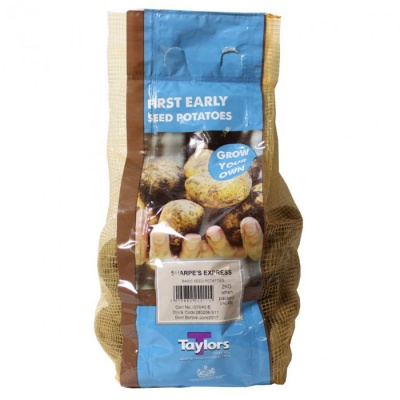 Taylors Bulbs Sharpes Express Seed Potatoes 2kg Carry Net