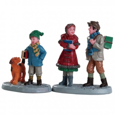 Lemax Going To School - Figurines - Set of 2 (82595)