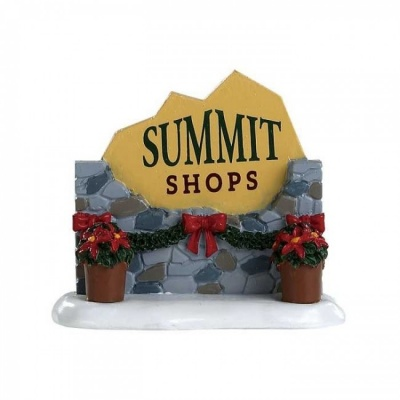 Lemax Summit Shops Sign - Accessory (84364)