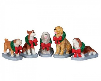 Lemax Christmas Pooch - Figurines - Set of 5 (32138)