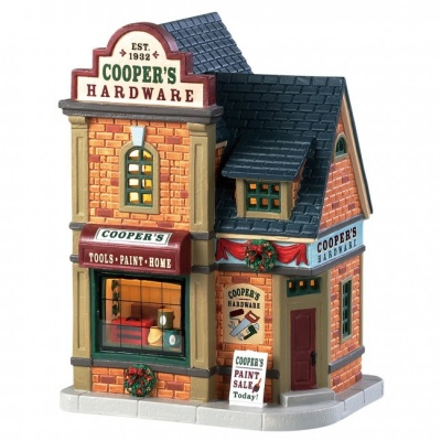 Lemax Coopers Hardware - Lighted Building (85415)