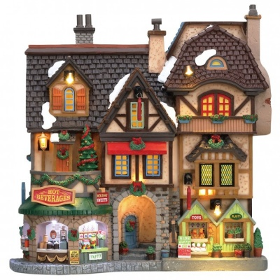 Lemax River Moors Christmas Street Festival - Lighted Facade (85315)