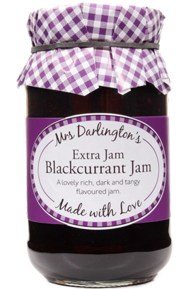 Mrs Darlington's Blackcurrant Jam With Extra Jam 340g