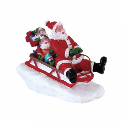 Lemax Sledding With Santa - Figurine (72549)