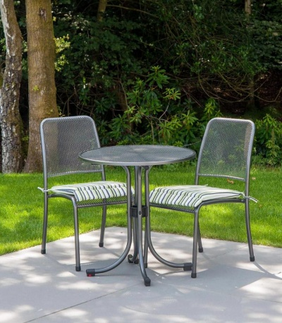 Alexander Rose Portofino Round 70cm Bistro Set With 2 Side Chair