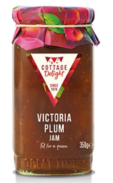 Cottage Delight Jam Victoria Plum Whole Fruit 350g