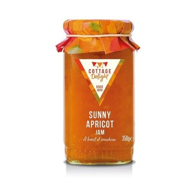 Cottage Delight Jam Sunny Apricot Whole Fruit 350g