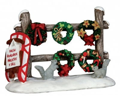 Lemax Christmas Wreaths 4 Sale - Figurine (54942)