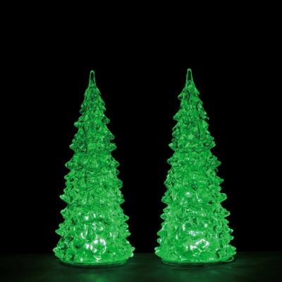 Lemax Crystal Lighted Colour Change Tree's Set of 2 (Small) - Accessory (94517)