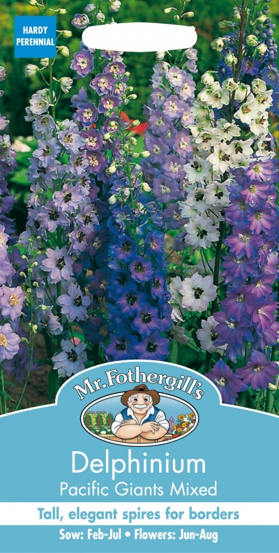 Mr Fothergills DELPHINIUM Pacific Giants Mixed Seeds