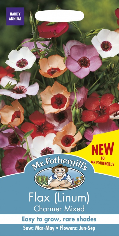 Mr Fothergills Flax (Linum) Charmer Mix Seeds