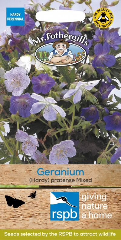 Mr Fothergills Geranium (Hardy) Pratense Mixed Seeds