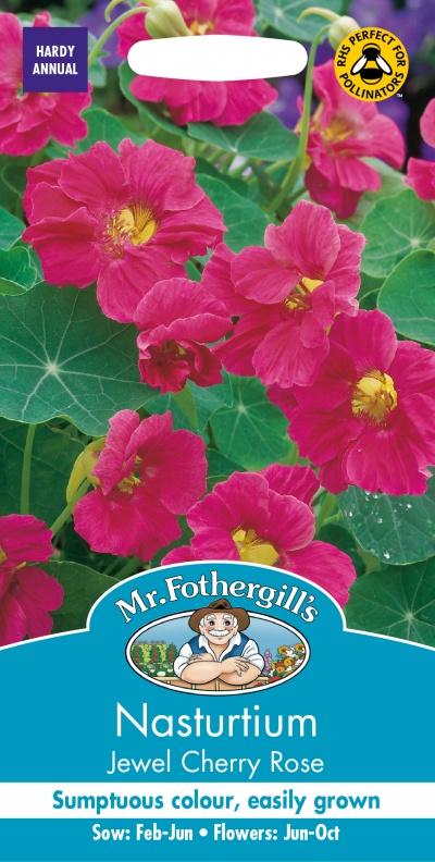 Mr Fothergills Nasturtium Jewel Cherry Rose Seeds