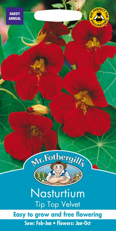 Mr Fothergills Nasturtium Tip Top Velvet Seeds