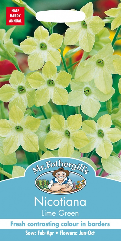Mr Fothergills Nicotiana Lime Green Seeds