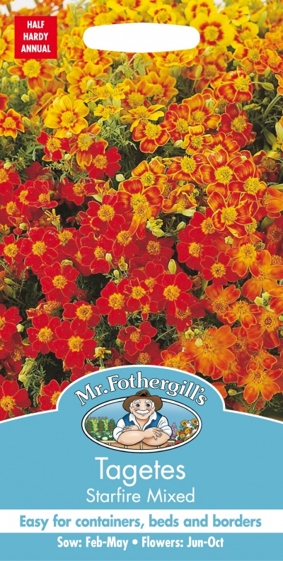 Mr Fothergills Tagetes Starfire Mixed Seeds
