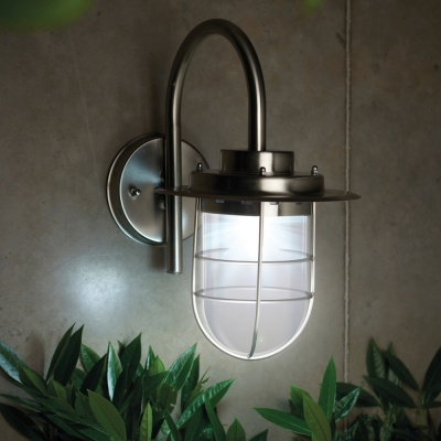 Gardman Solar Eltron Stainless Steel Wall Light