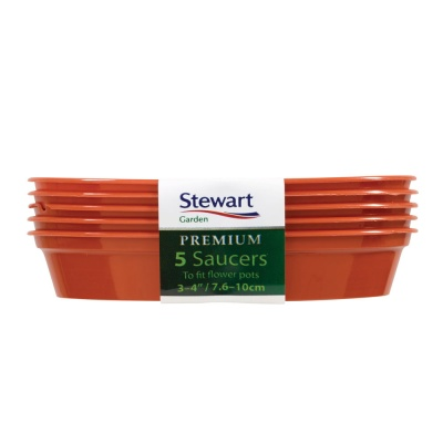 Stewart Round Plant Pot Saucers  3-4'' Pack Of 5