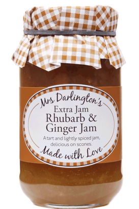 Mrs Darlington's Rhubarb & Ginger Jam With Extra Jam 340g