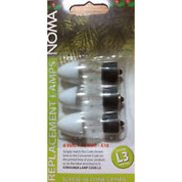 Noma® L3 6v 1.98w E10 Screw In Cone Fuse Lamps 3 Pack (196F)