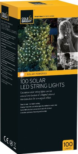 Cole and Bright 100 Solar String Lights