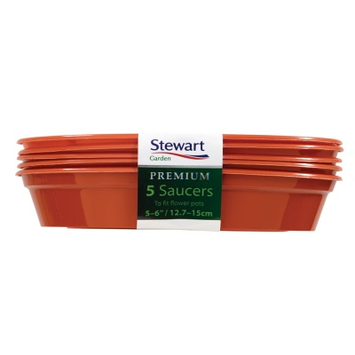 Stewart Round Plant Pot Saucers 5-6'' Pack Of 5