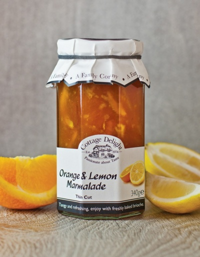 Cottage Delight  Orange and Lemon Marmalade Thin Cut 340g