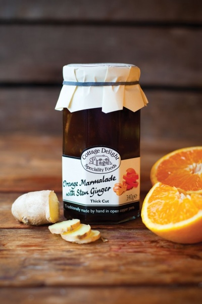 Cottage Delight Orange Marmalade Thick Cut with Stem Ginger 340g