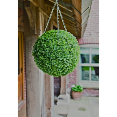 Herbaceous Effect Topiary Ball 30cm Incl. Hanging Chains