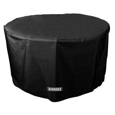 Bosmere Storm Black 4 Seater Circular Table Cover (D540)