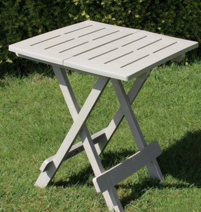 Adige Folding Occasional Table - Sand