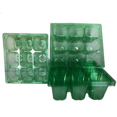 9 Cell Clear Plug Tray Set of Trays