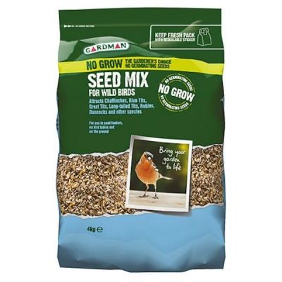 Gardman No Grow Seed Mix For Wild Birds 4kg
