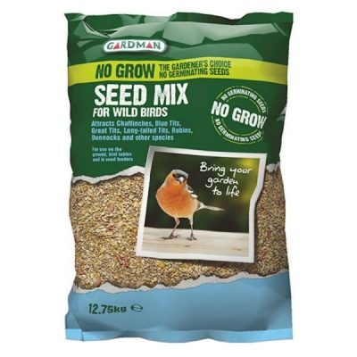 Gardman No Grow Seed Mix For Wild Birds 12.75kg