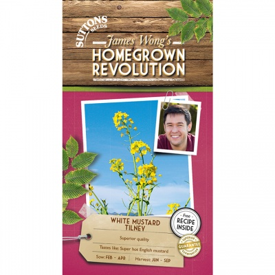 Suttons James Wong Homegrown Revolution - White Mustard Tilney