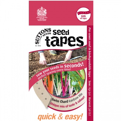Suttons Seed Tapes  - Chard Rainbow