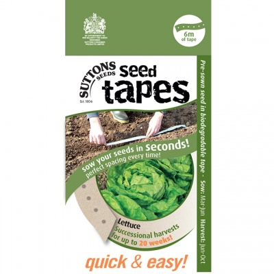 Suttons Seed Tapes  -Lettuce (Successional havests)