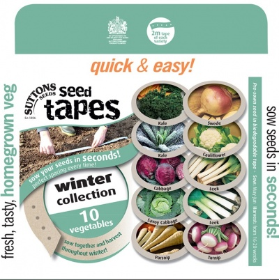 Suttons Seed Tapes - Winter Collection