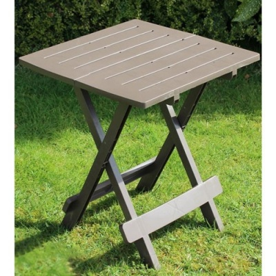 Adige Folding Occasional Table - Taupe