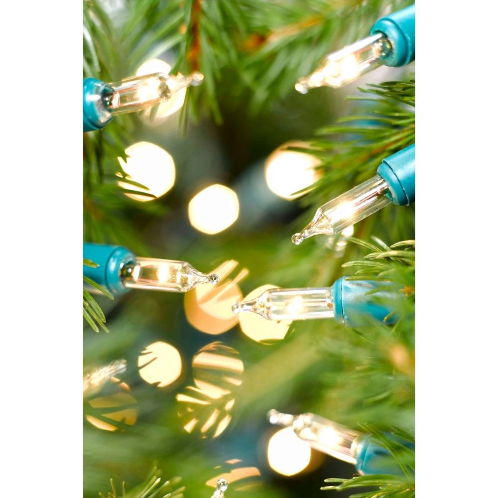Clear Christmas Lights.Noma 40 Classic Mini Christmas Lights Clear Green Cable 418gc